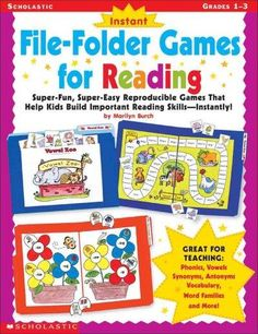 Scholastic Teaching Resources - Instant File-Folder Game for Reading Grades Reading Strategies, Reading Skills, Teaching Reading, Fun Learning, Reading School, Reading Intervention, Guided Reading, File Folder Activities, File Folder Games