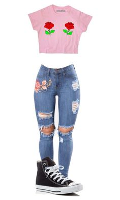 """Roses"" by shiane816 on Polyvore featuring Converse"