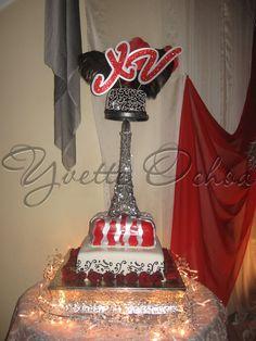 Pastel XV años en Mexicali F#1.299 / Sweet 16 cake
