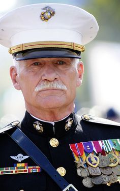 Dale Dye - author, actor, businessman, and retired USMC Captain who surviving 31 major combat operations in Vietnam. He is highly decorated, including three Purple Hearts. My Marine, Us Marine Corps, American Pride, American Actors, American History, Us Navy, Navy Mom, Dale Dye, Luftwaffe