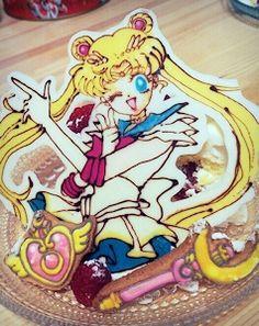 スーパーセーラームーン Sailor Moon Cafe, Sailor Moon Party, Moonlight, Princess Peach, Otaku, Chibi, Fan Art, Cute, Cookies