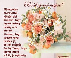 "Képtalálat a következőre: ""névnapi képek"" Birthday Qoutes, Happy Birthday, Happy Name Day, The Kelly Family, Family Album, Floral Wreath, Place Card Holders, Google, Facebook"