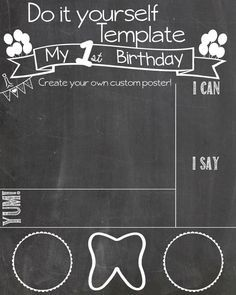 free download birthday chalkboard sign template and tutorial www