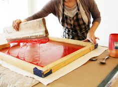 Screen printing, Lena Corwin - The Makers