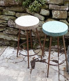 great vintage stools for my studio ! ww.facebook.com/juNxtaposition