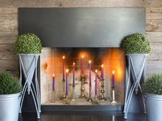 The design experts at HGTV.com share their tips on how to decorate your fireplace and mantel this summer. >> http://www.hgtv.com/design-blog/design/how-to-decorate-your-fireplace-in-the-summer-?soc=pinterest