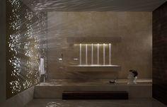 Horizontal Shower / Salle de bains & Spa / Dornbracht  #Wellness #Détente #Home #Spa #Relaxing #Relaxation #Bathroom #Homestyle #Zen #Spa #Sauna i #homespa #dreamshower #bathroomdesign #shower Relaxing Bathroom, Bathroom Spa, Bathroom Fixtures, Bathroom Trends, Bathroom Ideas, Douche Design, Power Shower, Interior Minimalista, Take A Shower