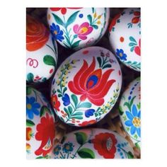 Easter greetings kalocsai eggs, traditional Hungarian handpainted eggs Size: Small x Gender: unisex. Easter Egg Dye, Easter Bunny, Pinterest Easter Ideas, Easter Crafts, Holiday Crafts, Art D'oeuf, Egg Designs, Ideias Diy, Egg Art