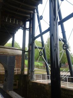 View from inside the Anderton Boat lift