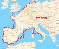 Our sailing route!