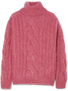 d302e24290 Max Mara - Cable-knit mohair-blend turtleneck sweater