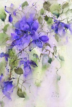 Ingrid Buchthal - Aquarelle #watercolorarts
