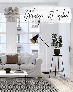 Ihr Wollte Eure Wohnung Minimalistisch Einrichten? #minimalismus  #einrichtung #wohnen Wir Haben Die