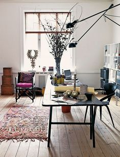 love the gorgeous studio of danish designer marianne brandi. (photo via elle decor españa)