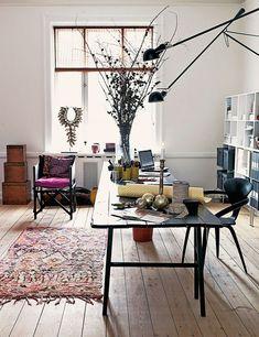 love the gorgeous studio of danish designer marianne brandi. (photo via elle decor españa)