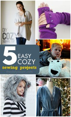5 Easy Cozy Sewing Projects - The Daily Seam