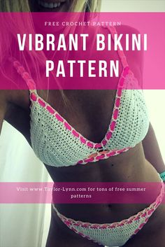 Crochet bikini tops online, or crochet edged tops are hella pricey. So I DIYed an affordable edged crochet bikini top and am sharing the pattern free. Crochet Bikini Pattern, Swimsuit Pattern, Crochet Halter Tops, Crochet Bikini Top, Crochet Shorts, Crochet Patterns, Crochet Ideas, Top Pattern, Free Pattern