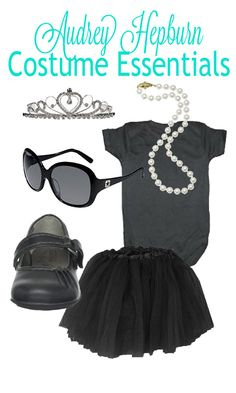 The cutest Halloween costume for a little girl! Easy DIY Audrey Hepburn costume!
