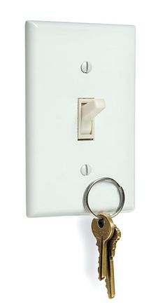Magnetic light switch cover. $24.99 + shipping via thinkgeek or about $18 via Amazon.