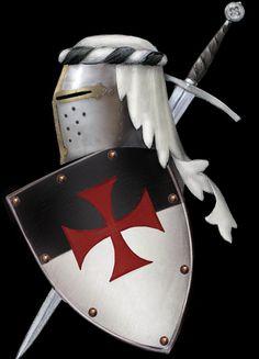 "Knights Templar:  #Knights ""#Templar Shield and Helm,"" by dashinvaine, at deviantART."