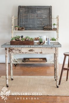 the zinc-topped table goes home... - Miss Mustard Seed