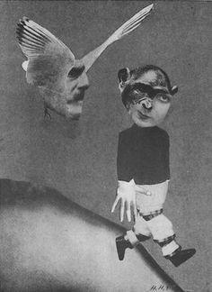"""""""Flight"""" by Artist Hannah Höch . Artist Hannah Höch was a true trailblazer of photomontage. Dada Collage, Collage Artists, Collage Photo, Photo Collages, Illustrations Poster, Illustration Art, Photomontage, Dadaism Art, Hannah Hock"""
