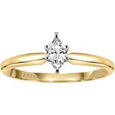 Keepsake Timeless 1/5 Carat Marquise-Cut Diamond Ring in 10kt Yellow Gold