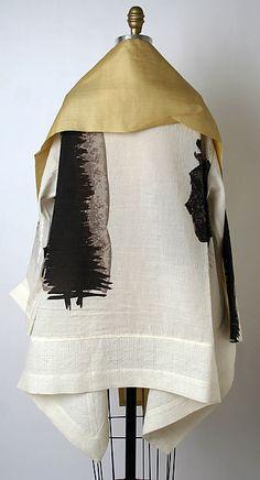Jacket. Designer: Issey Miyake (Japanese, born 1938) Design House: Miyake Design Studio (Japanese) Date: spring/summer 1997 Culture: Japanese Medium: silk, linen/nylon blend, cotton/linen