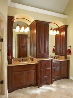 Master Bath Cabinets Design, Pictures, Remodel, Decor and Ideas