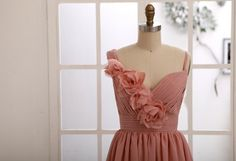 Hey, I found this really awesome Etsy listing at http://www.etsy.com/listing/157168801/dusty-rose-pink-bridesmaid-dressprom