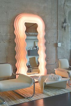 Ultrafragola mirror by Ettore Sottsass