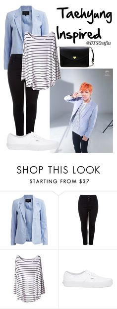 """Taehyung Inspired"" by btsoutfits ❤ liked on Polyvore featuring VILA and Vans"