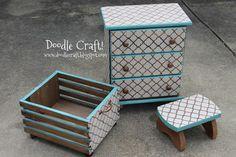 Doodlecraft: Custom DIY Stenciling & Staining furniture!