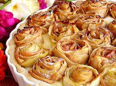 Apple Pie with Roses on top.