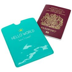 Buy Happy Jackson 'Hello World' Passport Cover Online at johnlewis.com