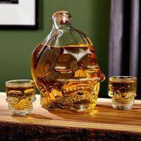 Skull of Doom Skull Decanter and Shot Glass Set