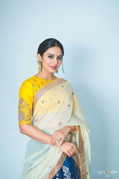 Punjabi Girl Stills In Yellow Lehenga Choli Rakul Preet Singh Most Beautiful Indian Actress, Beautiful Actresses, Bollywood Celebrities, Bollywood Actress, Rakul Preet Singh Saree, Yellow Lehenga, Punjabi Girls, Rest, Saree Dress