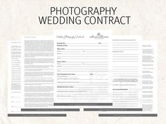 Wedding Photography Contract  Custom Branded Marketing Template