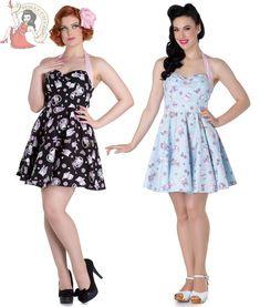HELL BUNNY AMELIA chat chaton COEUR MINI ROBE NOIR BLEU | Clothing, Shoes & Accessories, Women's Clothing, Dresses | eBay!
