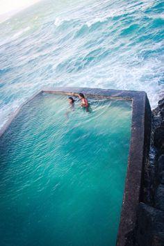 seaside stone pool, Madeira, Portugal