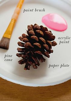 Decora tu mesa con piñas secas y neón - Manualidades fáciles - Manualidades para niños - Charhadas.com