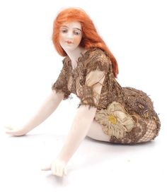 Bisque Galluba Hofmann Bathing Beauty Original Doll Large Girl Figurine