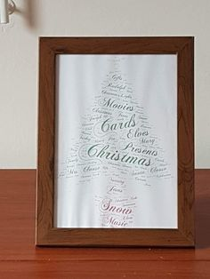 Buy Christmas Tree Word Collage. Handmade by creative people crafting through DISABILITIES, CHRONIC ILLNESS or are CARERS