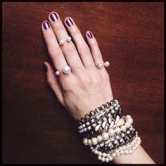 Rings: pearls/silver (handmix jewelry. Spb, Russia)