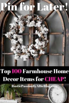 This is the best affordable decor items. If you are a modern farmhouse decor fan or Joanna Gaines obsessed you will die over these home decor ideas. Get inspired to find your own decor style for your Country Farmhouse Decor, Farmhouse Style Kitchen, Modern Farmhouse Kitchens, Farmhouse Lighting, Vintage Farmhouse, Farmhouse Bed, American Farmhouse, Farmhouse Sinks, Decorating Your Home