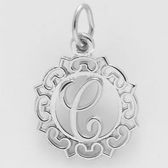 initial C Charm $26 https://www.charmnjewelry.com/category/sterling_silver-Initials_Charms_A_Z.htm #InitialCharm  #CharmnJewelry  #SilverCharm