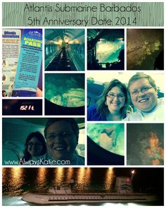 Always, Katie: 5th Anniversary Date - Atlantis Submarines Barbados ...But our big anniversary date was the night before we flew home, and it was EPIC!! We went on a night-time submarine tour of some of the reefs off the coast of Barbados, with Atlantis Submarines.  Coolest. Date. EVER!!