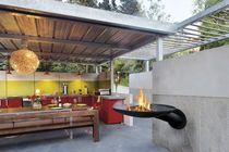Garten-Feuerkorb / Holz / Stahl