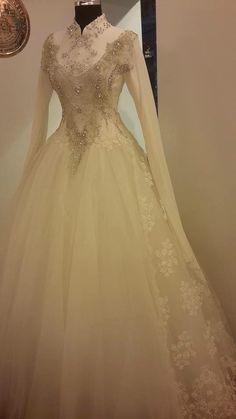 Bride Reception Dresses, Muslim Wedding Dresses, Ceremony Dresses, White Wedding Dresses, Wedding Party Dresses, Muslim Gown, English Dress, Formal Dresses With Sleeves, Dress Vestidos