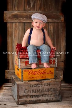 omgosh...I'm ready to photograph a little boy...I want to use my collection of vintage crates and old door.